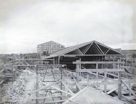 Construction of shed on North Half, facing South