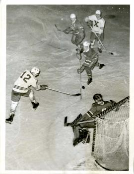 Photograph of the X-Men hockey team during a game