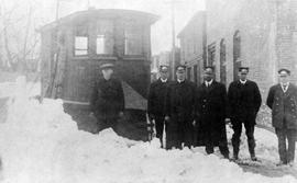 C.B. Electric Co. Snow Plow and Employees