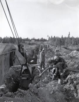 Construction of pipe line to Fortress