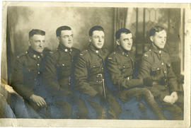 Portrait of five soldiers
