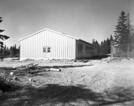 Exterior view of Archaeology Building being constructed
