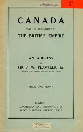 Canada and its relations to the British Empire