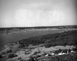 Aerial photograph, town of Louisbourg