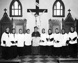 Bishop W.E. Power and Priests (Graduates of Xavier Junior College)