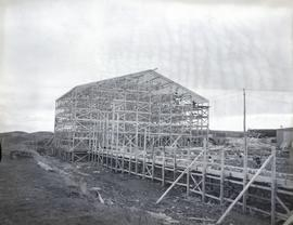 Construction of contractor's shed, South half Chateau, facing South