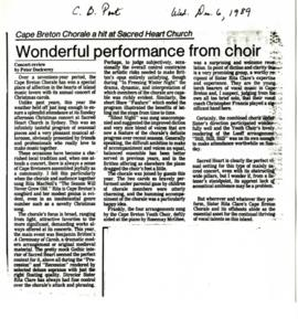 Sister Rita Clare Clippings and Articles