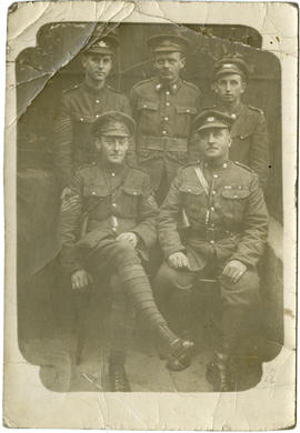 "Five soldiers after ""Champagne Supper"""