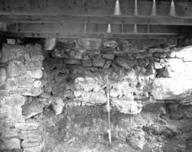 Chapel wall footer, butted wall removed, facing South