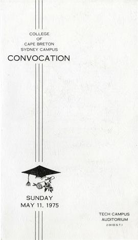 Program for the 1975 Convocation