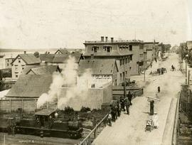 Coal Engine Passing Under Charlotte Street