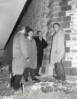 Trade Minister Mitchell Sharp at King's Bastion