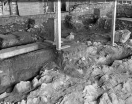 General view of interior of Chapel showing completed excavation