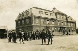 Soldiers at the Broughton Arms Hotel