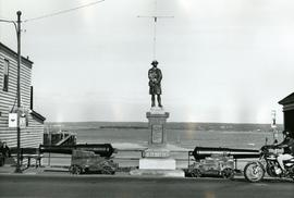 World War Monument in downtown Digby, Nova Scotia