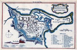 Plan of the City and Fortifications of Louisbourg
