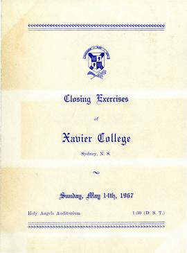 Program for 1967 Closing Excersies