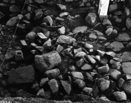 Iron and rubble facing West