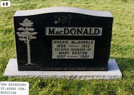 Hughie and Mary Beaton MacDonald, Gravestone