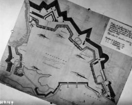 Copy of historic British plan, deomolition of Fortress