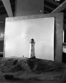 Model lighthouse of present light