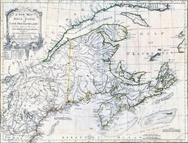 A new map of Nova Scotia and Cape Breton Island with the adjacent parts of New England and Canada