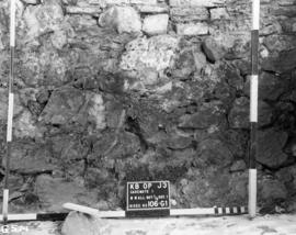 Bottom half, West wall, section 1, Casemate 1