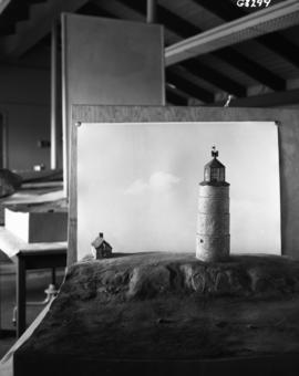 Model of old lighthouse, year 1732