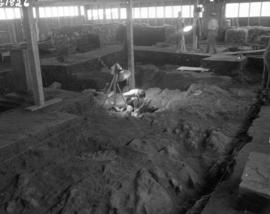 Oblique Chapel floor showing excavation