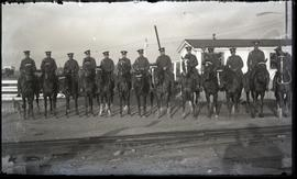 Mounted military officers, New Waterford