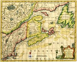 Map of New England and Nova Scotia