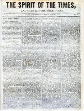 Spirit of the Times March 1, 1845