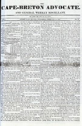 The Cape Breton Advocate February 17, 1841