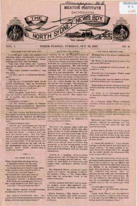 The North Sydney News Boy October 23, 1883