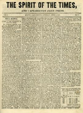 Spirit of the Times April 5, 1845