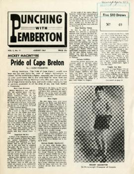 Punching with Pemberton August 1961