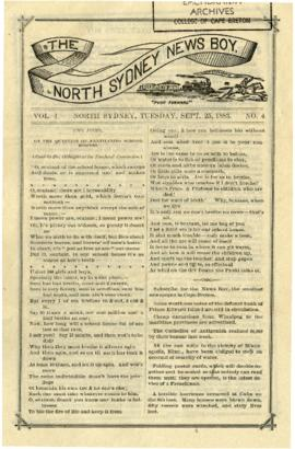 The North Sydney News Boy September 25, 1883