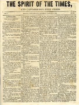 Spirit of the Times March 22, 1845
