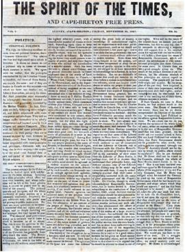 Spirit of the Times November 29, 1844