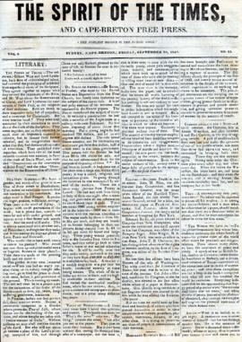 Spirit of the Times September 20, 1844