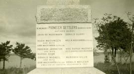 Monument to Pioneer Settlers, Beaver Cove