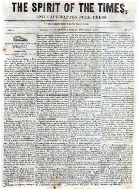 Spirit of the Times November 1, 1844