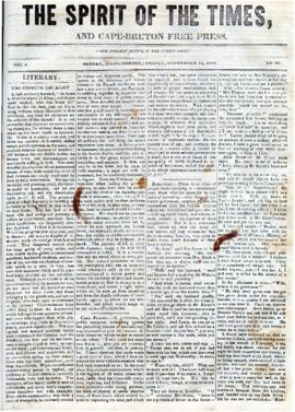 Spirit of the Times September 13, 1844