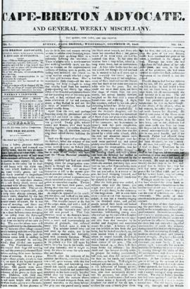 The Cape Breton Advocate December 30, 1840