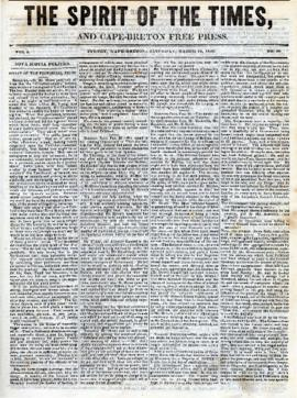 Spirit of the Times March 15, 1845