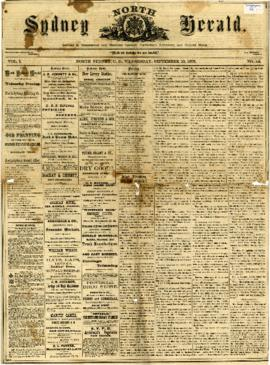 The North Sydney Herald September 10, 1873