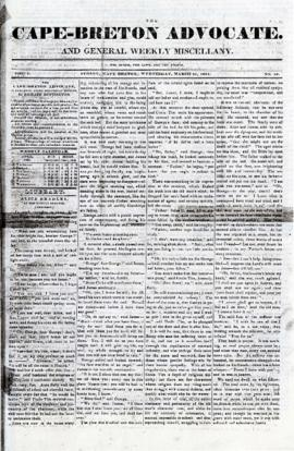 The Cape Breton Advocate March 31, 1841