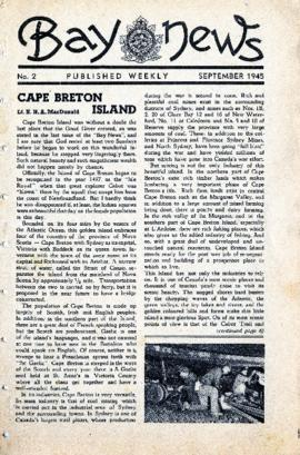 Bay News September 1945