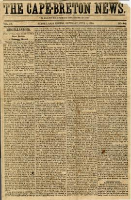 The Cape Breton News July 1, 1854