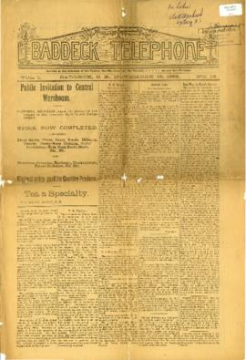 Baddeck Telephone November 16, 1898